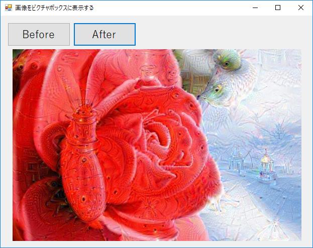 ピクチャボックスに画像を表示する実行結果2の画像